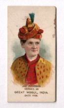 Old cigarette card USA 1889 tobacco insert by Duck`s